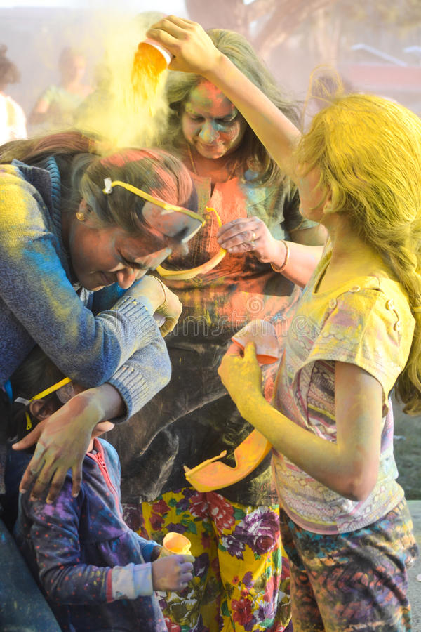 Festival von Farben: Holi lizenzfreies stockbild