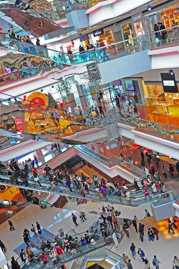 Festival walk shopping mall, hong kong stock photos