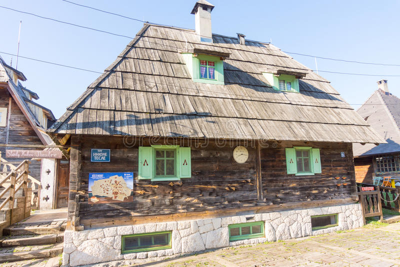 Festivalcentrum in Drvengrad Kusturica, Servië stock fotografie