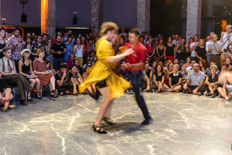 ` Festivalen 2017 för ` för utmärkelser för musik för världsdriftstopp` och `-gungai Madrid, Spanien royaltyfri bild