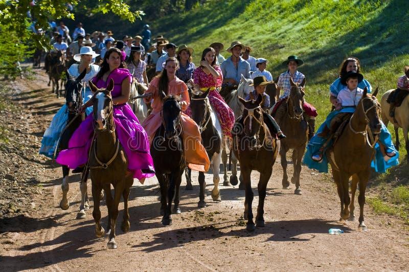 festivalgaucho royaltyfri bild