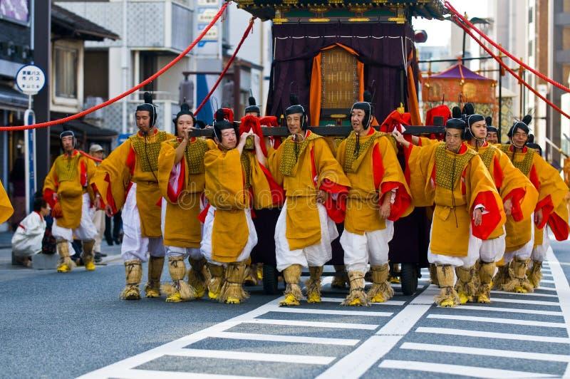 festivaljidaimatsuri royaltyfri foto