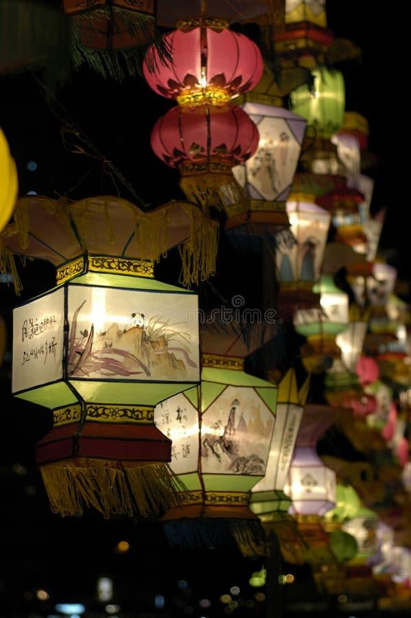 festivallykta singapore arkivfoton