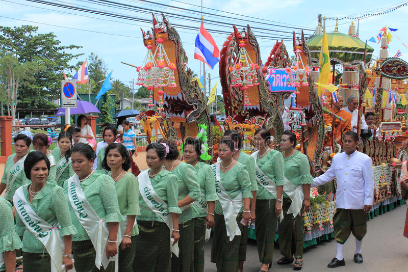 Festivals de Chak Phra images stock