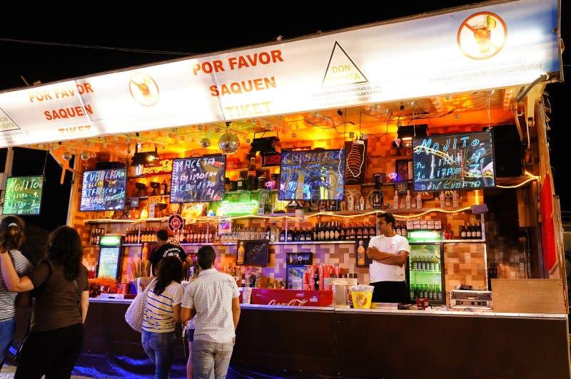 Festivals en Espagne, bar de boissons image stock