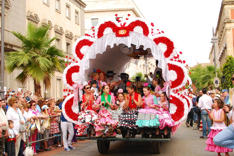 Festivals - le pélerinage d'EL Rocio image libre de droits