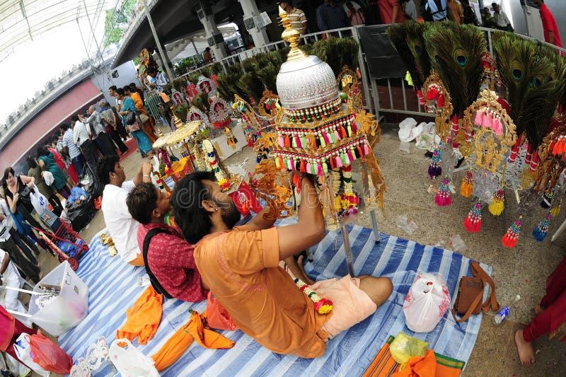 festivalsingapore thaipusam arkivbilder
