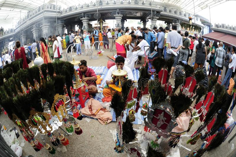 festivalsingapore thaipusam arkivbild