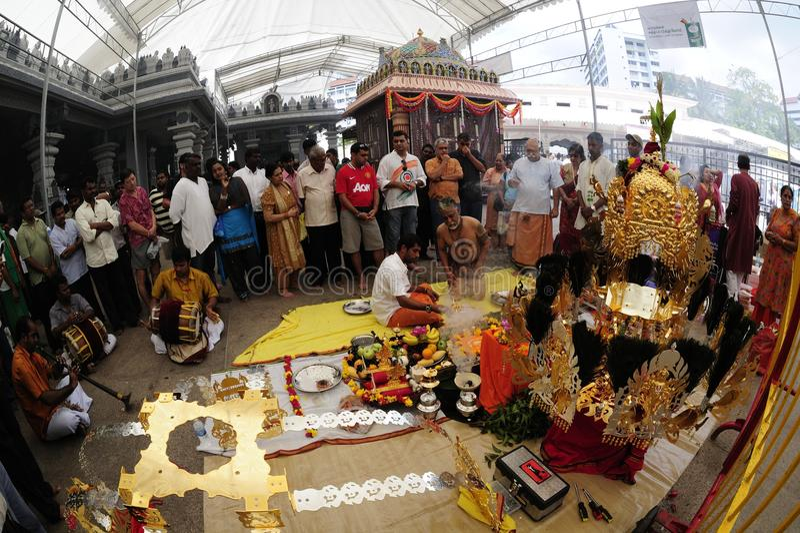 festivalsingapore thaipusam arkivfoton