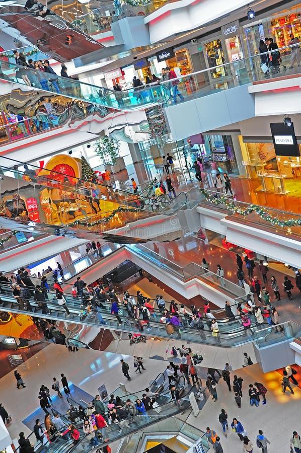 Festivalweg-Einkaufszentrum, Hong Kong stockfotos