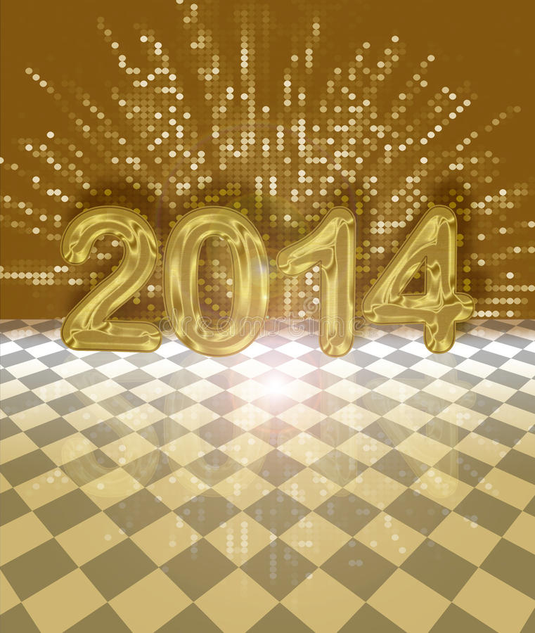 Festive 2014 card vector illustration