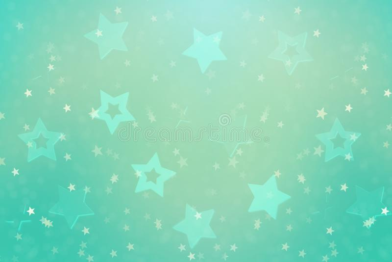 Festive abstract background with blue stars. Texture for new year, birthday, baby shower party. Creative pattern. Festive abstract background with stars, bokeh stock image