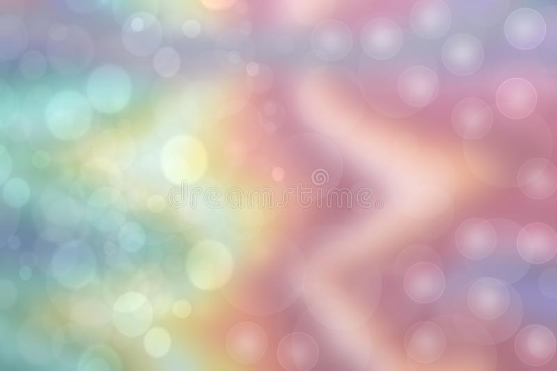 A festive abstract Happy New Year or Christmas texture background and with color blurred bokeh lights and stars. Space for design stock photos