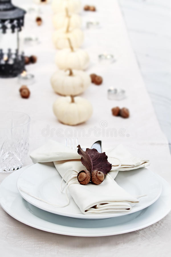 Festive Autumn Table stock photography
