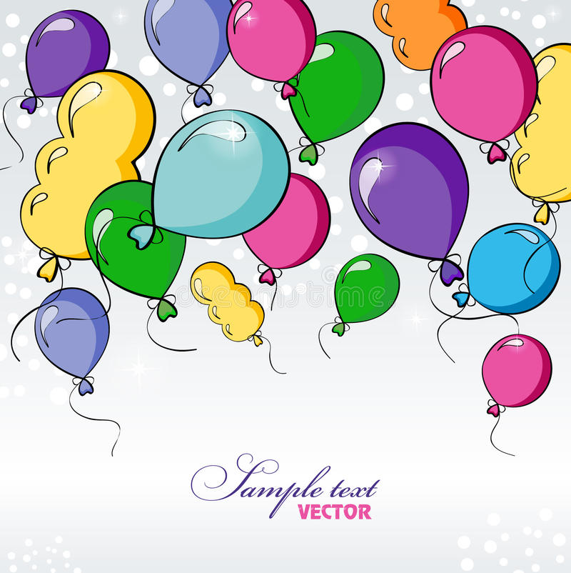 Download Festive background stock vector. Image of green, balloon - 26500565