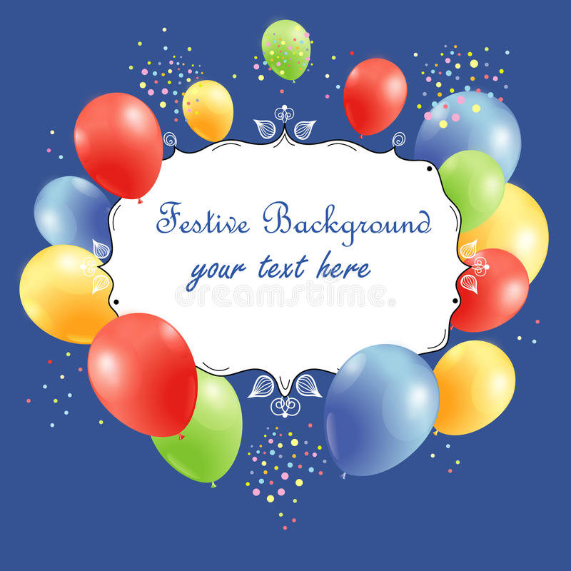 Download Festive Background With Balloons Stock Vector - Image: 29033729