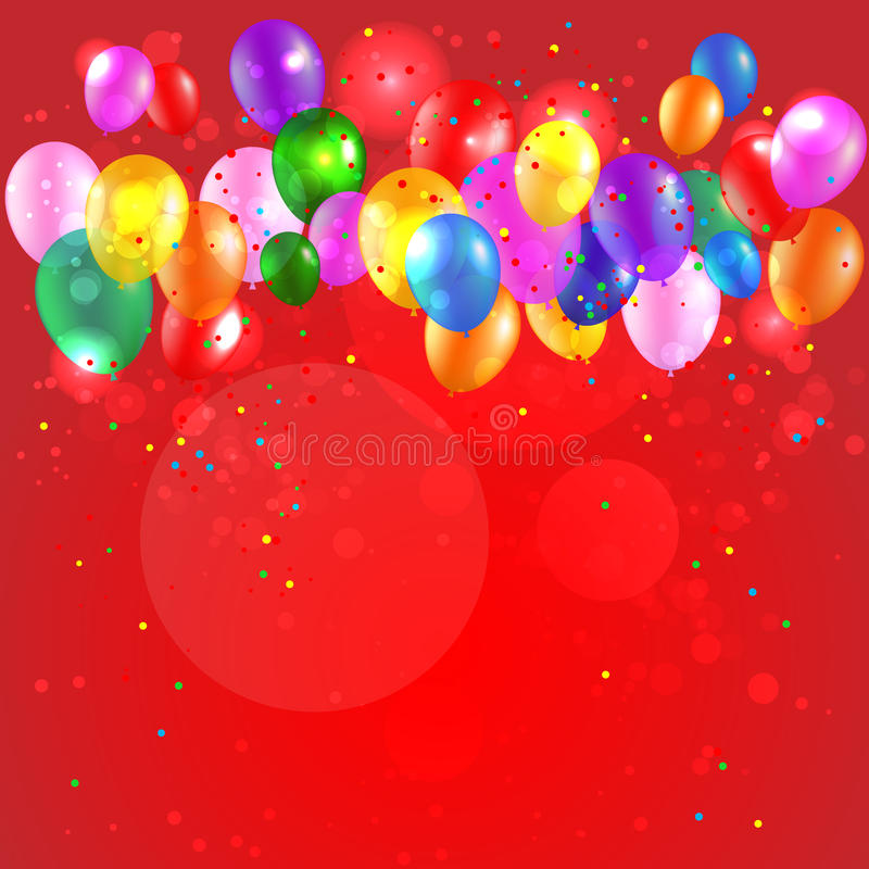 Festive background with color balloons royalty free illustration
