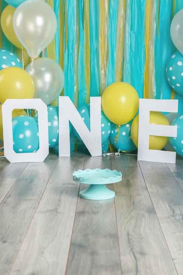 Festive background decoration for birthday celebration stock photography