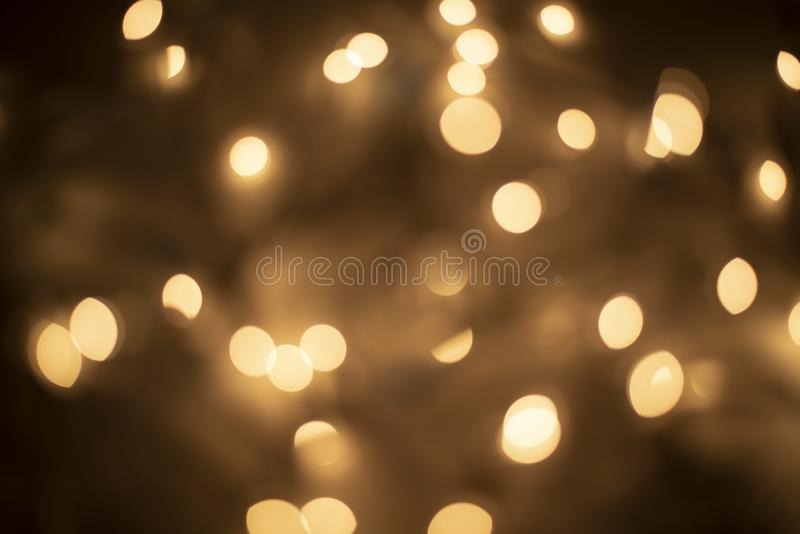 Gold and Brown Bokeh - Lights stock photography