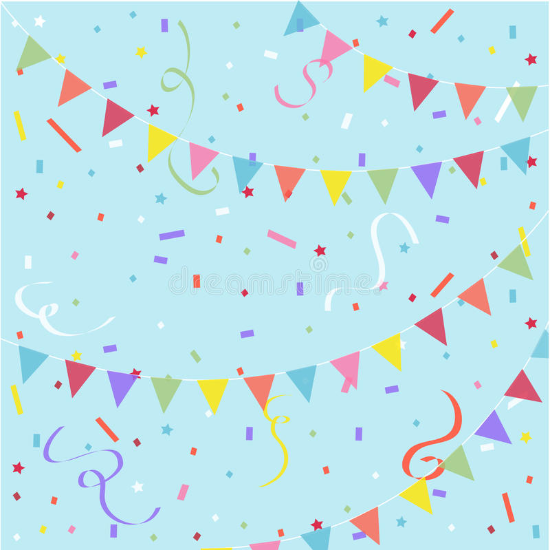 Festive background. Party, festive background with colorful flags royalty free illustration