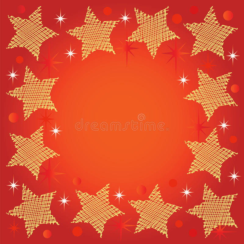 Festive background with stars. Festive background for graphic design or web design. Each element is grouped individually royalty free illustration
