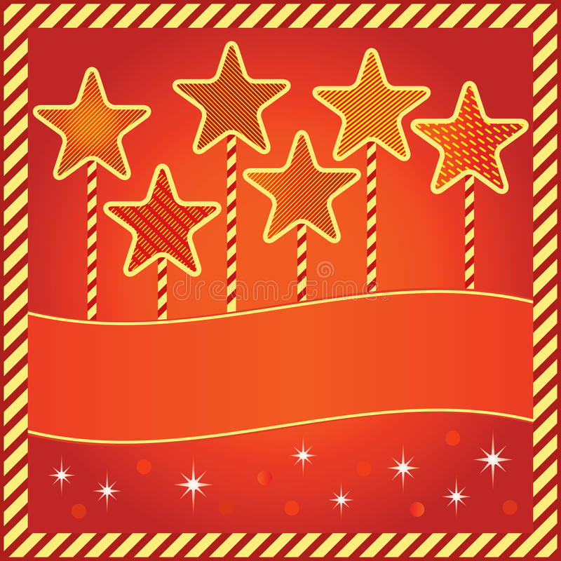 Download Festive Background With Stars And Space For Text Stock Vector - Image: 27246630
