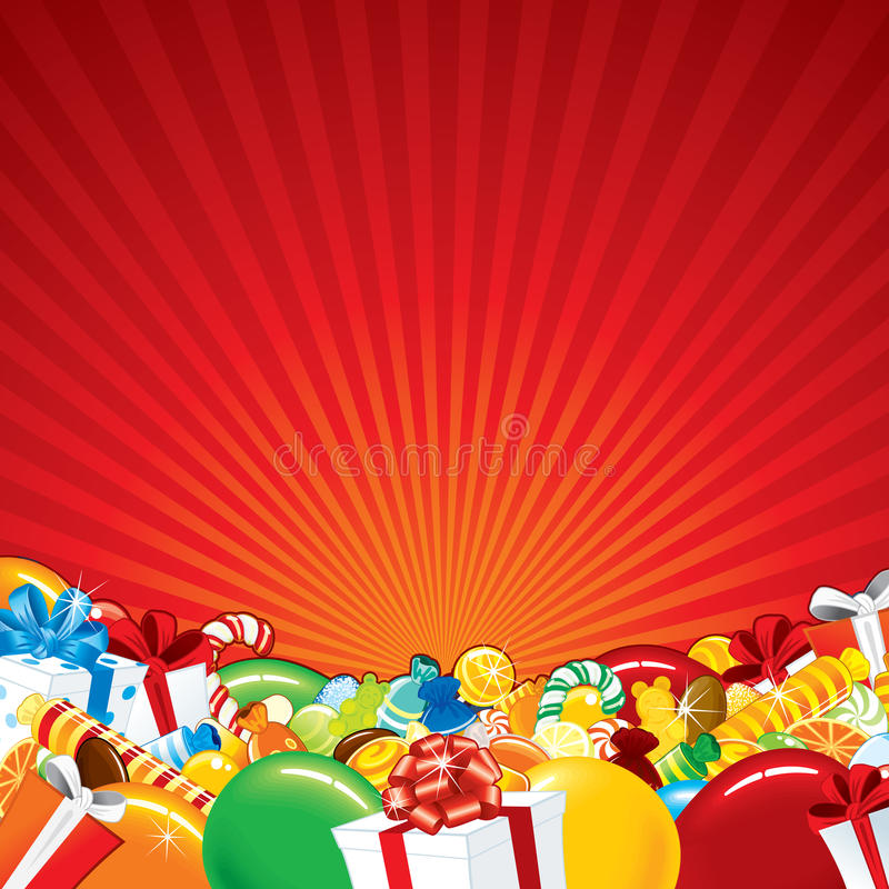 Festive Background. Vector Template royalty free illustration