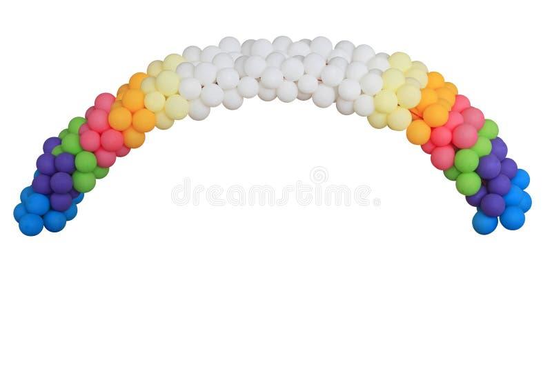 Festive balloon arc royalty free stock image