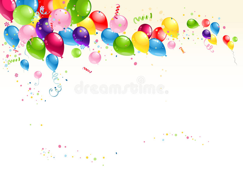 Festive Balloons Background Stock Images