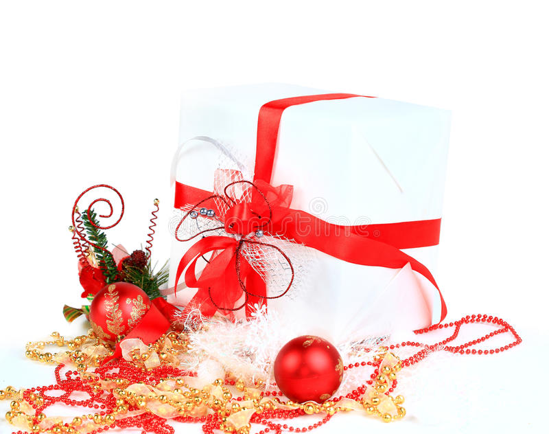 Download Festive Balls With Gift Box Stock Photo - Image: 22506466