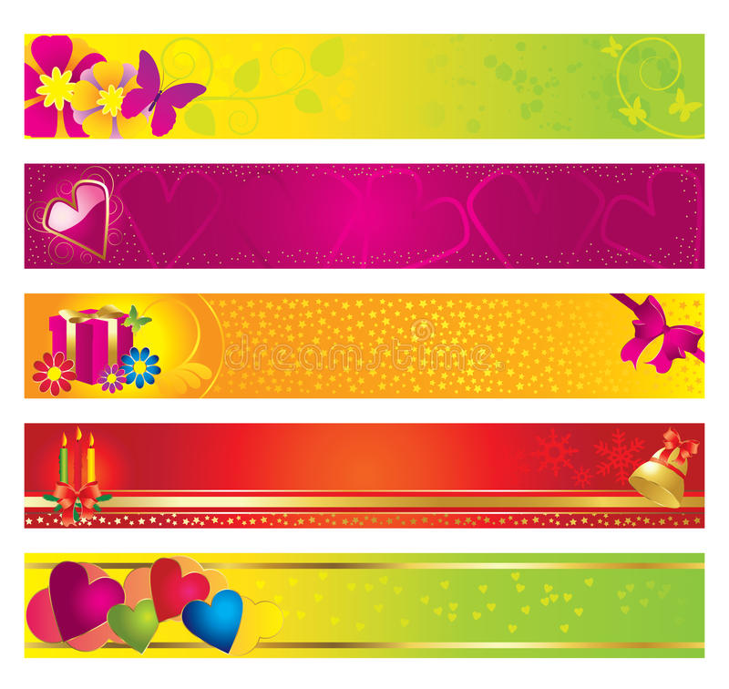 Download Festive banner stock vector. Image of valentines, year - 12232002