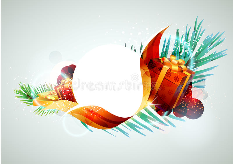 Festive banner. stock illustration