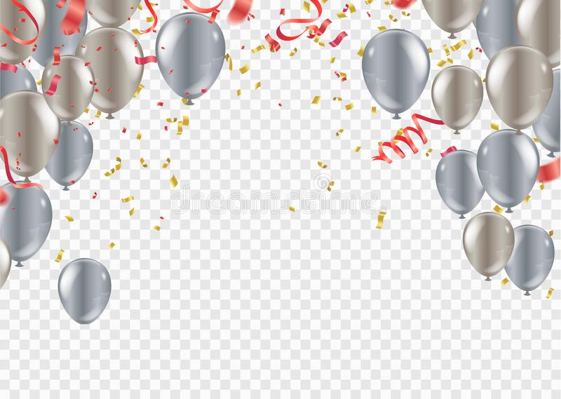 Festive birthday background with balloon celebration banner template colorful eps.10. Festive birthday background with balloon celebration banner template vector illustration