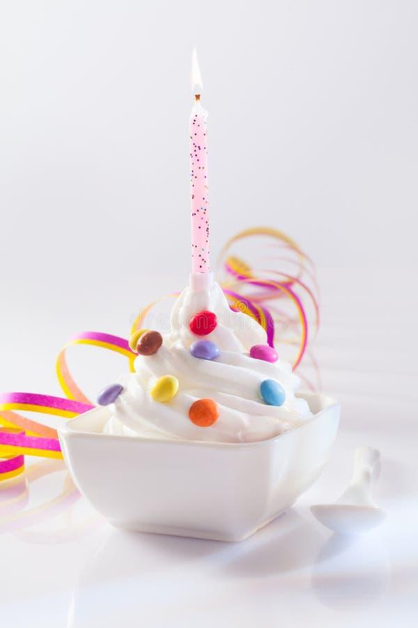 Festive and Birthday Dessert stock images