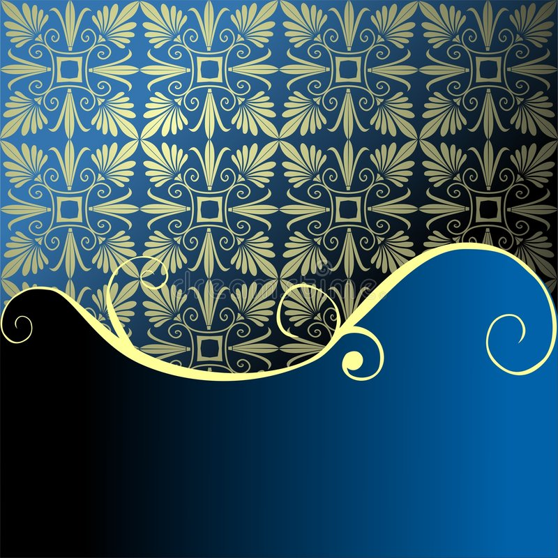 Festive blue background with space for your text royalty free illustration