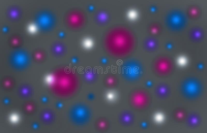 Festive blurred colorful shining background stock illustration