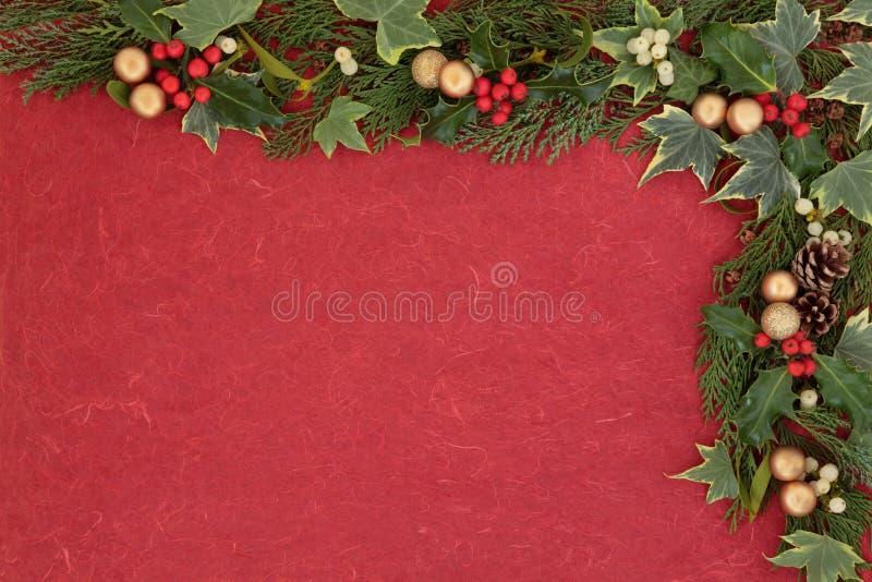 Download Festive Border stock photo. Image of gold, season, holly - 32849938