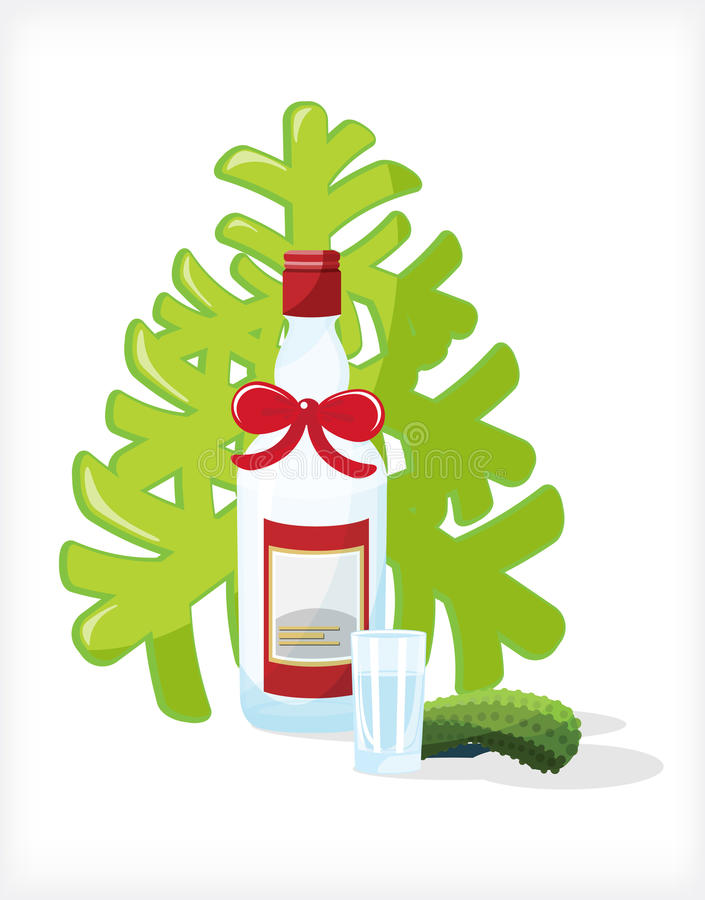 Download Festive Bottle stock vector. Illustration of night, christmas - 17324630