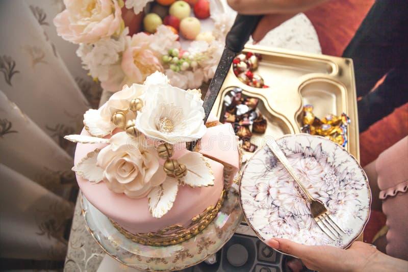 Festive cake at a celebration stock photo