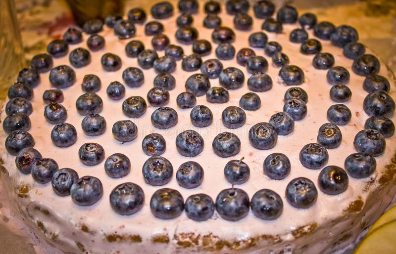 Peachy Birthday Cake For Two Years With Blueberries Stock Photo Image Funny Birthday Cards Online Benoljebrpdamsfinfo