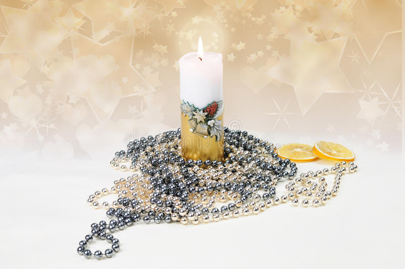 Download Festive candle stock image. Image of season, candle, color - 24401155