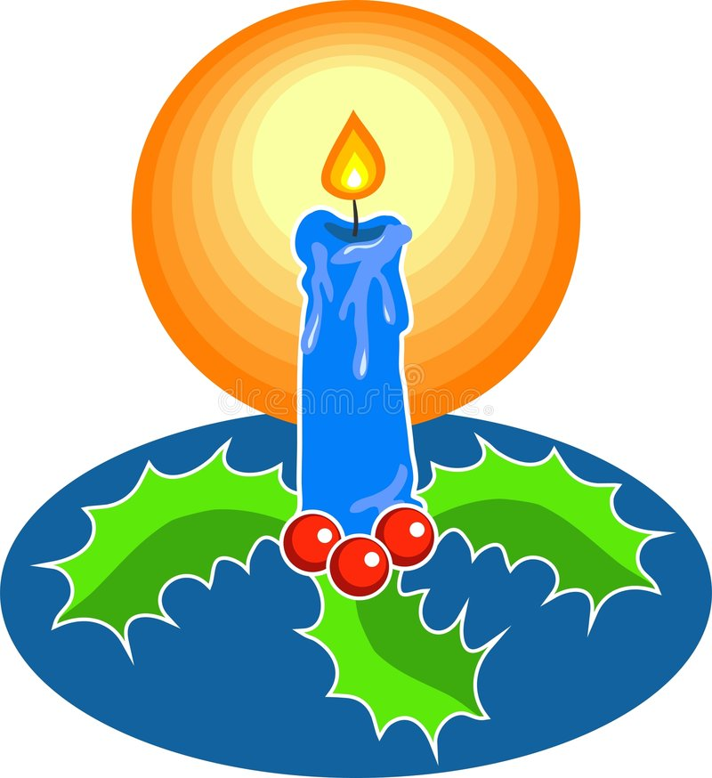 Festive Candle vector illustration