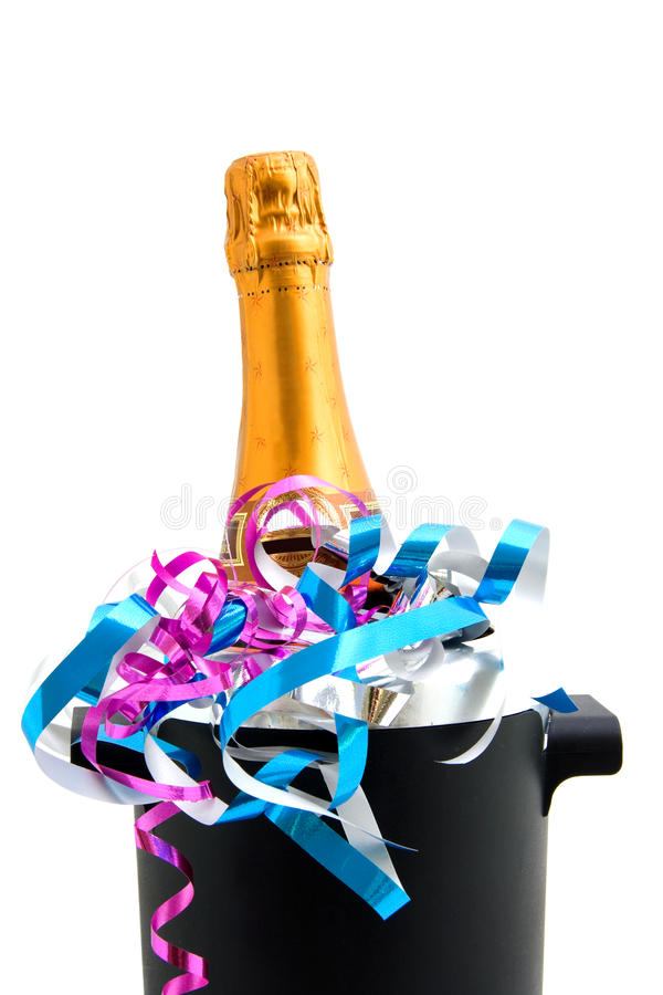 Download Festive Champagne In Cooler Stock Image - Image: 12082687