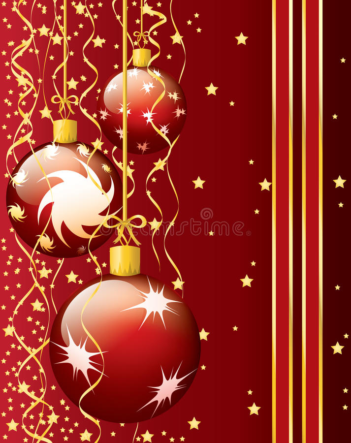 Download Festive Christmas card stock vector. Image of gold, ornament - 21881369