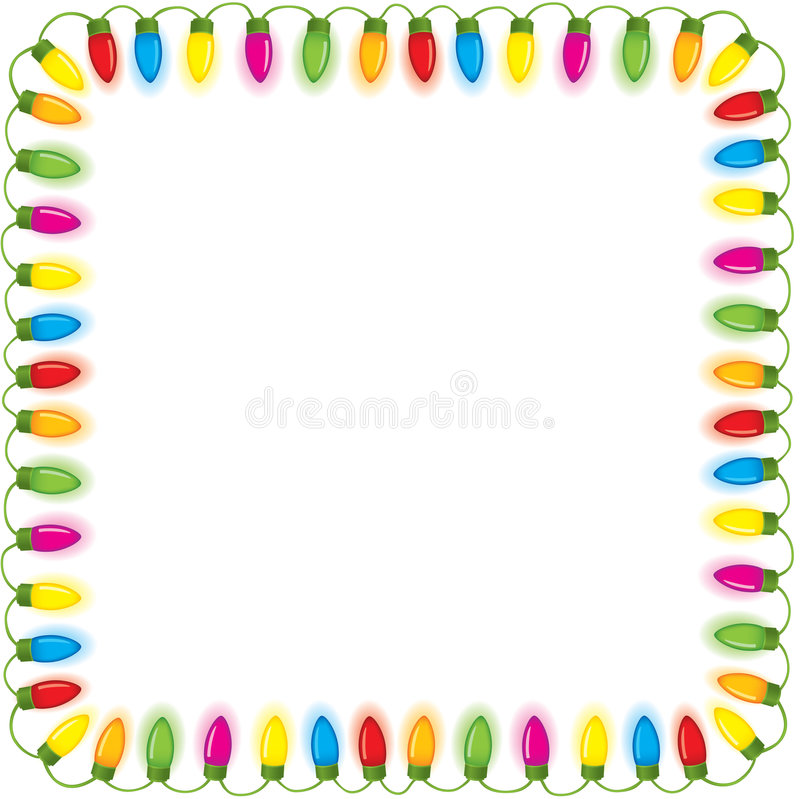 Festive Christmas Lights Royalty Free Stock Images