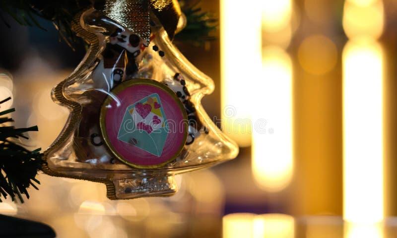 Festive Christmas toys Shine with lights royalty free stock image