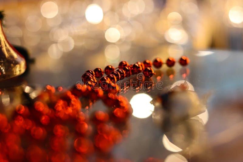 Festive Christmas toys Shine with lights stock photography