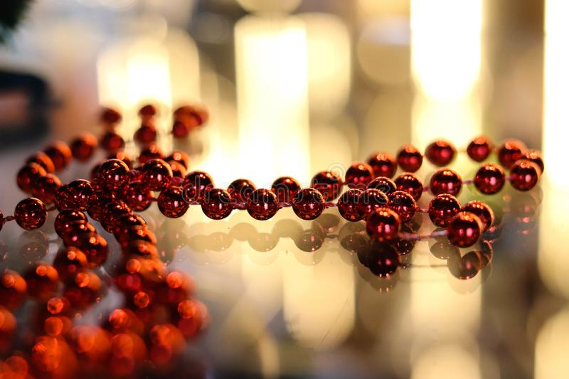 Festive Christmas toys Shine with lights royalty free stock photo