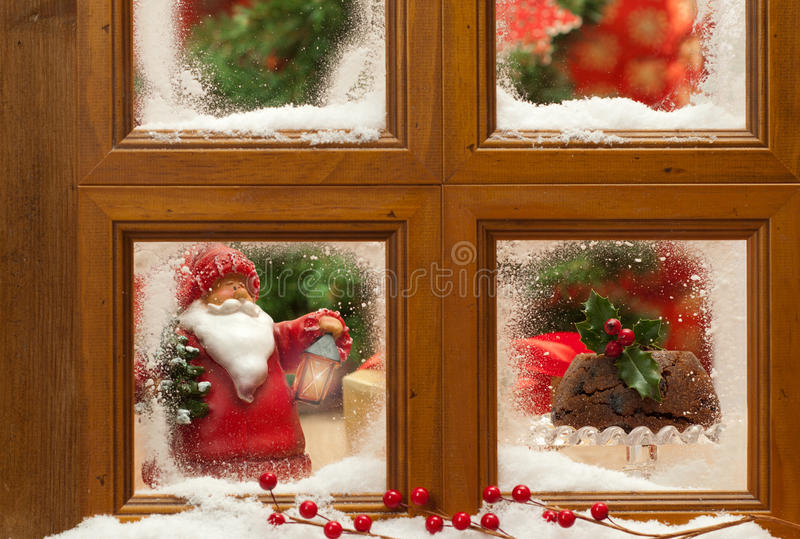 Download Festive Christmas Window stock photo. Image of frame - 21899758