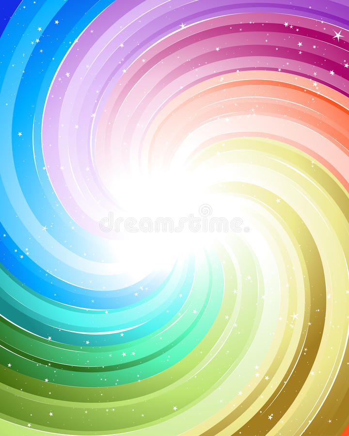 Festive color rays royalty free illustration